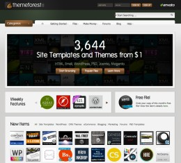 Themeforest and it's easy to use interface. Over 4000 templates to choose from