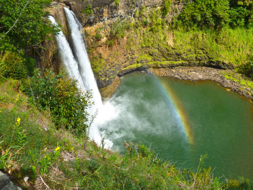 Wailua Falls on the Garden Island of Kaua'i