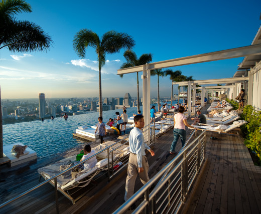 Rooftops high places and observation decks in singapore you can easily get up to 2018 update for Marina bay sands swimming pool entrance fee