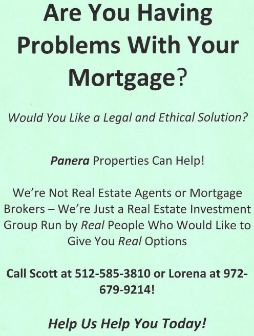 Foreclosure Seminar Flyer
