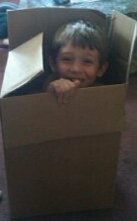 No, he wasn't put in a box for punishment. But the picture was funny, right?