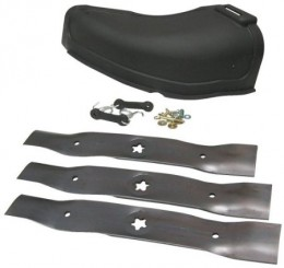 "This is a kit for a large mower with 48"" blades you may well find the right kit for your model mower at Amazon"