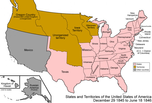 American Frontier Map 1846