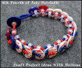 4th Fourth of July Patriotic Craft Project Ideas With Buttons