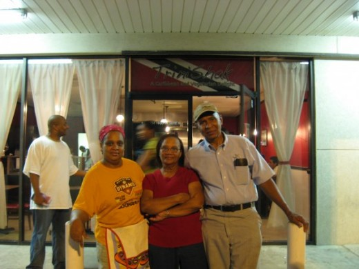 Cousin Sandra, Her mum and Dad @ her business place in Texas