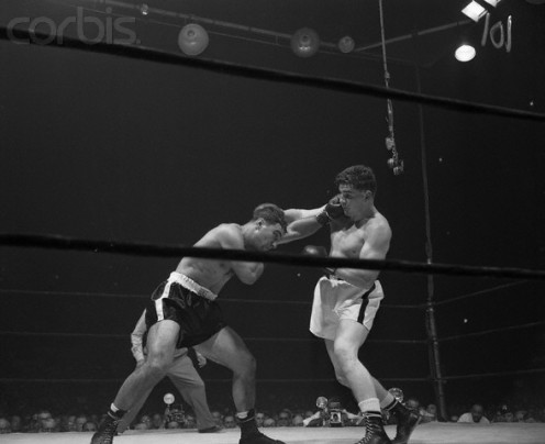 Rocky Marciano crushes Rex Layne in six rounds. The Brockton Blockbuster never slowed down and actually tossed more punches as the wore on.