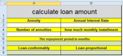 How to Calculate Loan Amount in Excel