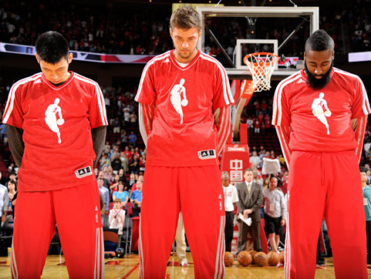 Jeremy Lin, Chandler Parsons and James Harden