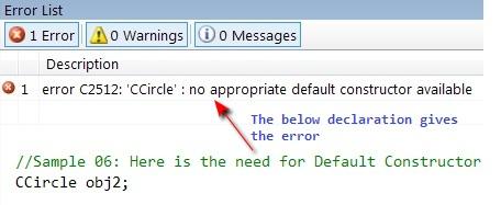 Compiler Error C2512