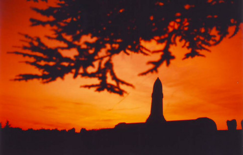 Douaumont Ossuary at sunset