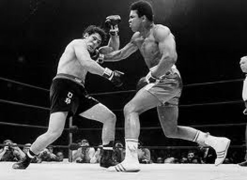 Oscar Bonavena was knocked out in the 15th and final round in his title challenge against the great boxing Champion Muhammad Ali.
