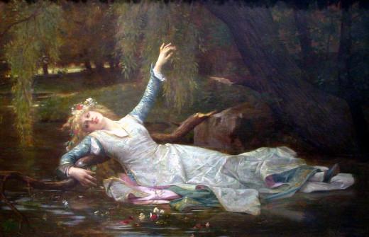 Ophelia by Alexandre Cabanel (1883)