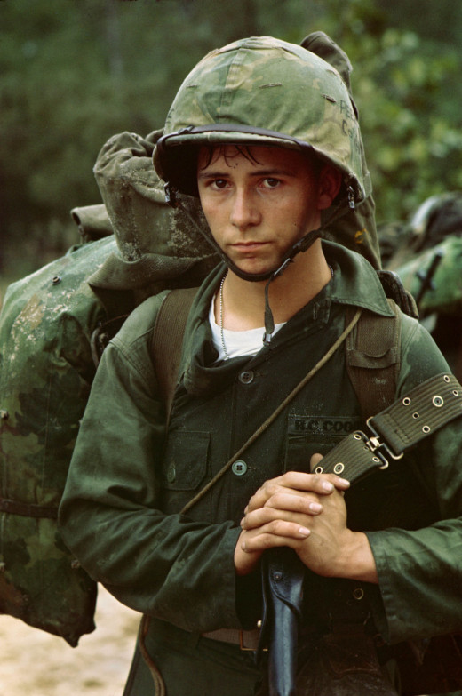 A soldier who fought in the Vietnam War.