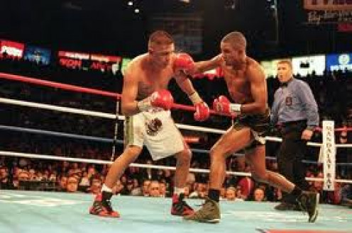 Felix Trinidad knocked out the then undefeated Fernando Vargas to unify two titles in the Jr. Middleweight division.