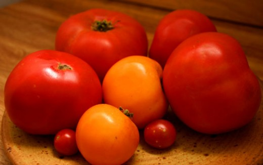 heirloom tomato varieties from our home garden