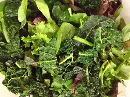 Kale and Mixed Green Salad