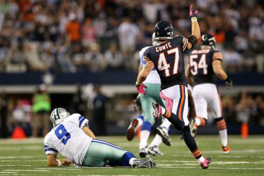 Tony Romo during 2012 loss to Bears