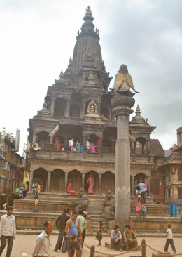 Krishna Temple is one of the finest examples of spire temple design.