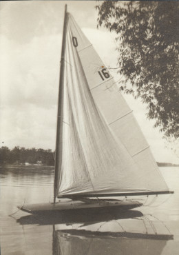 Sailboat on Okauchee Lake