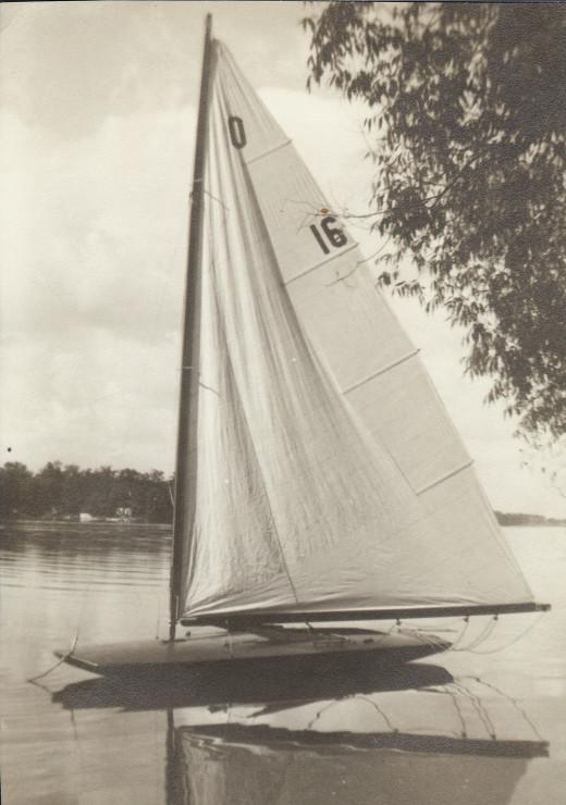 Sailboat on Okauchee Lake