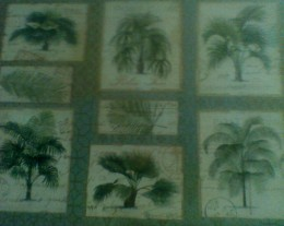 My palm tree place mat, side 2