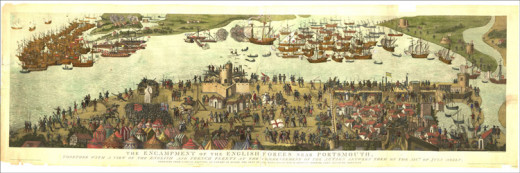 The Cowdray Engraving, depicting the sinking of the Mary Rose.