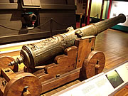One of the recovered cannons. Carriage is reconstructed.