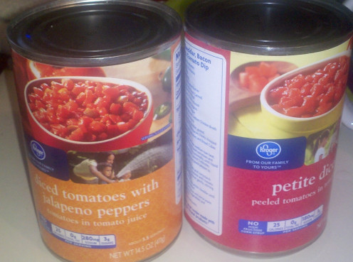 Tomatoes with chilies or plain diced tomatoes