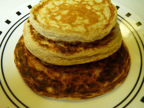 Oatmeal cottage cheese pancakes. They certainly look like pancakes, and surprisingly, they taste like them too!