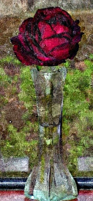 "Here is a 2-panel ""PosteRazor"" hanging made from a casual snapshot of a pretty rose. The original photo was run through the ""FotoSketcher"" program so that it would simulate an oil painting. Its length is about 23 inches. You can also do these things."