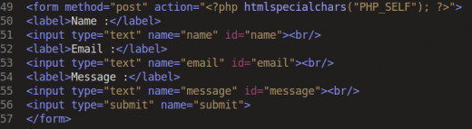 PHP Code for Contact form