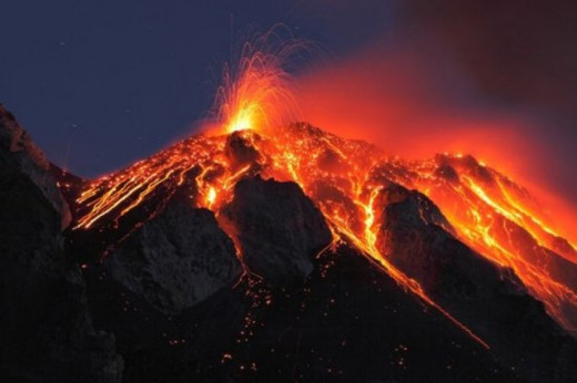 Most volcanoes are weak and small even if they do erupt.