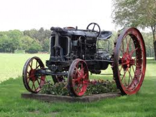 The tractor has been around for over a hundred years.Tractors can be used for personal or industrial uses.