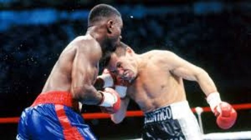 Sweet Pea Whitaker fought to a draw with Julio Cesar Chavez, Sr. In truth Whitaker used defense and footwork to baffle and defeat Chavez.