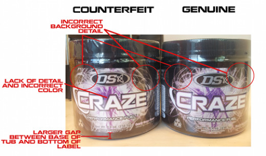 Driven Sports has released images to help you be able to tell if your product is counterfeit.