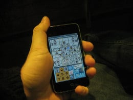 Sudoku on the go with an iPhone