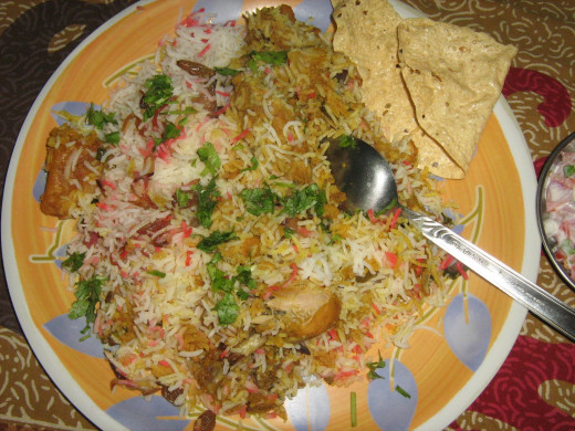 Biryani at Moti Mahal