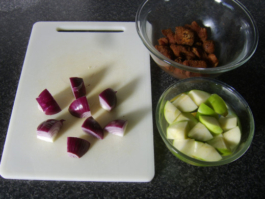 Spicy pork shish kebab ingredients