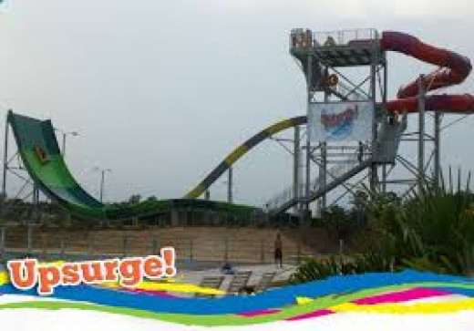 The Upsurge is located at Splash Adventure in Bessemer, Alabama. It's very fast and it propels you up and then downward.
