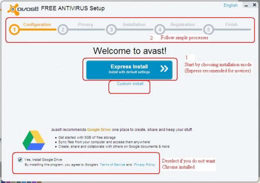 Avast Setup Process