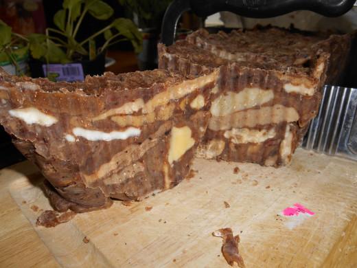Chocolate malt  marble soap.