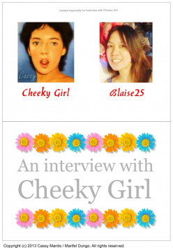 An Interview with Cheeky Girl by Blaise25
