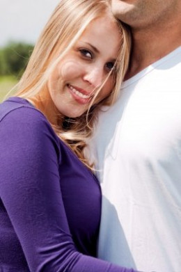 Share long and intimate hugs with your loved one to express your love.