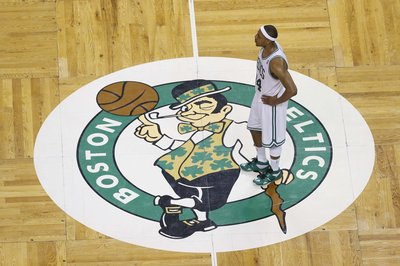 Paul Pierce at center court