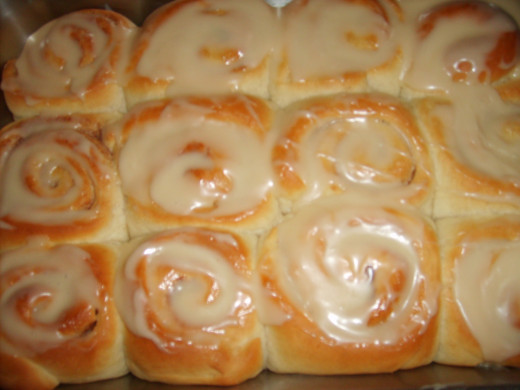 Baked, with glaze added, and ready to eat!