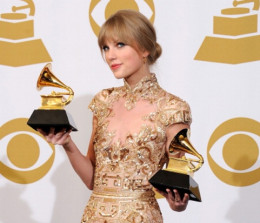 Two Grammy Awards for a good nights work for Taylor Swift.