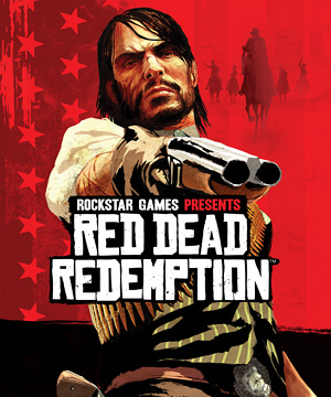 """Red Dead Redemption"" cover art feat. protagonist John Marston"