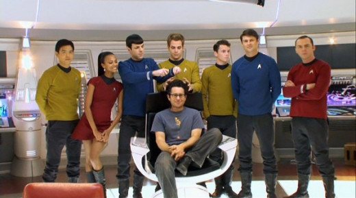 Abrams with his sophomore crew of Trekkers...