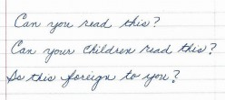 Cursive Writing - Is it a lost art?