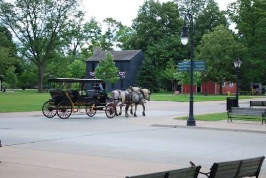 If you don't want to walk, take a ride on the horse drawn carriage.